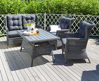 Luxury rattan garden lounge furniture