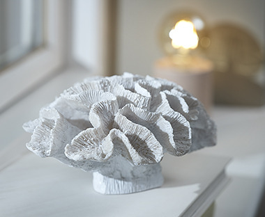 White ceramic coral ornament