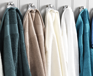 Quality towels in various colours