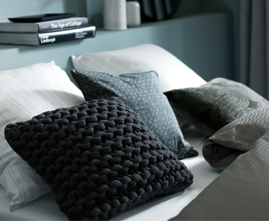 Mix and match cushions and materials for a new look