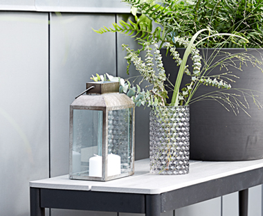Outdoor lanterns and garden candles