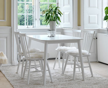 white wooden table and chairs. Dining Sets be6085cb379f