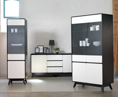 white and black modern sideboards and cabinets