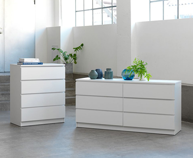 Matching White Chest Of Drawers