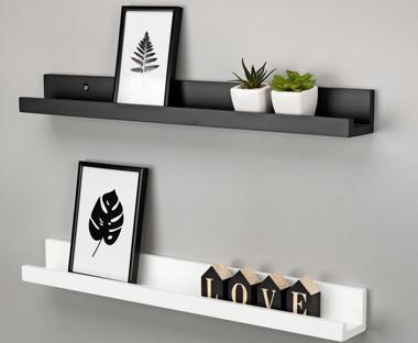 shelves floating wall shelves and decorative pieces jysk rh jysk co uk Small White Shelf Wall white wall shelving uk