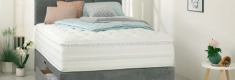 Luxury spring mattress on divan bed base