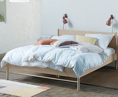 wooden oak bed frame double size