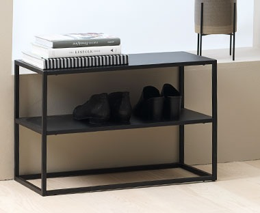 small metal frame shoe rack