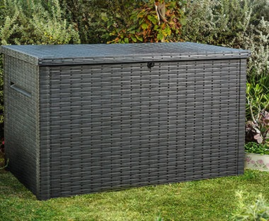 Large outdoor storage perfect for garden cushions or toys