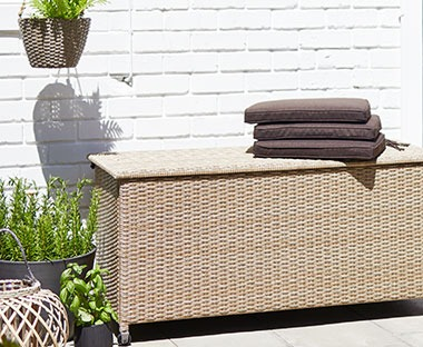natural rattan cushion box for your outdoor space