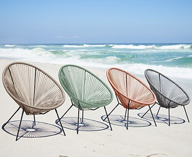 egg shaped string lounge chairs for your garden or outdoor space