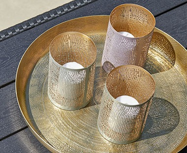 tealight holders mesh design