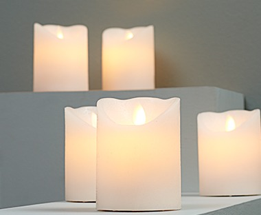 LED candles for safe candle light around the home