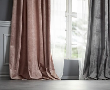 Luxury ready made curtains in assorted colours