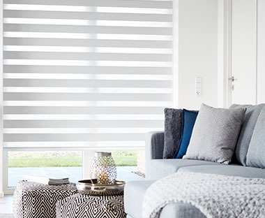white Duo blinds roller blinds