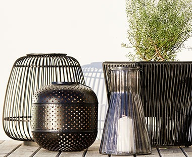 various garden lanterns in metal and glass for your outdoor space
