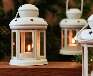tealight lantern assorted colours