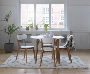 Scandinavian inspired wooden dining room furniture