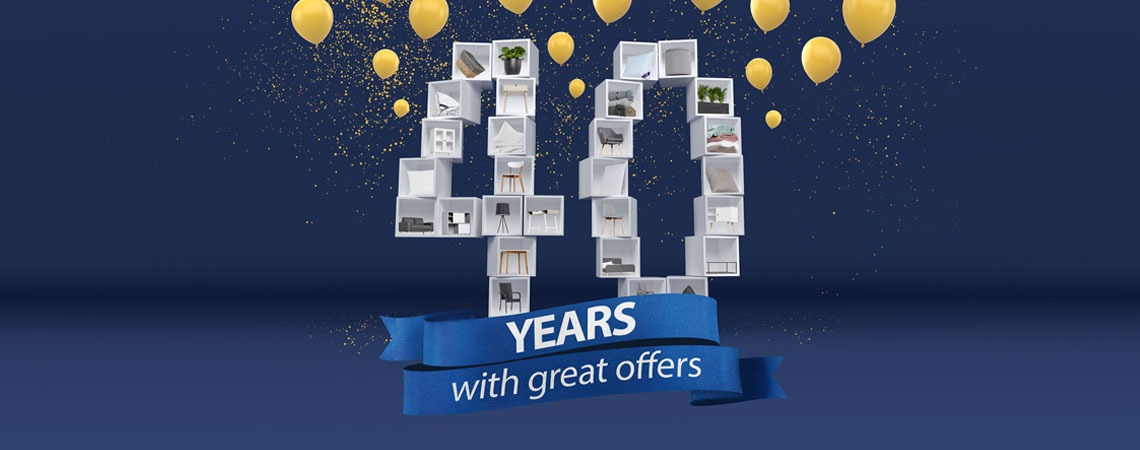 40 years with great offers