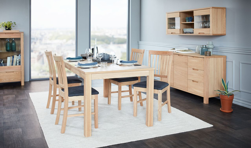 Light oak dining table from JYSK