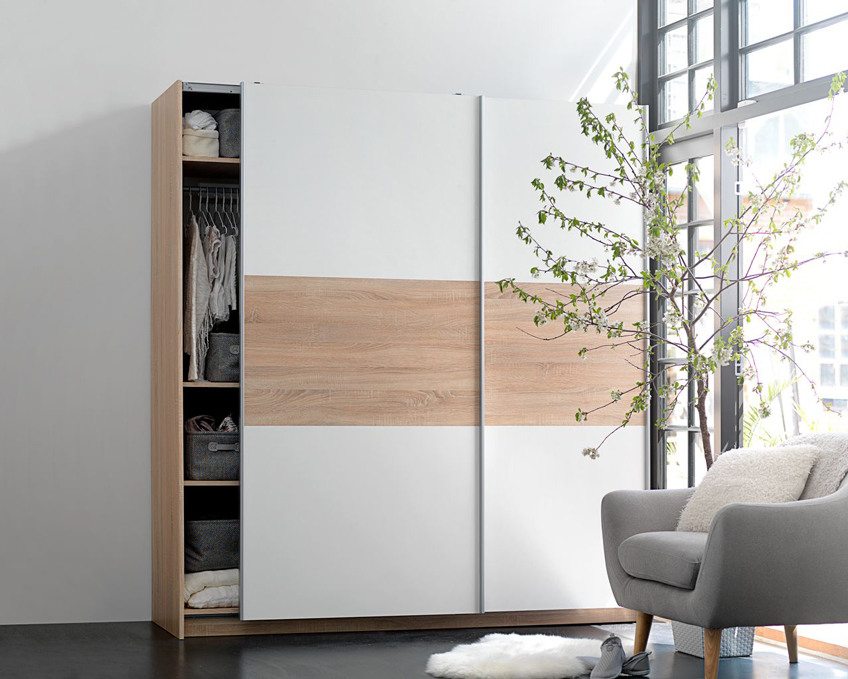 Wardrobes with sliding doors from JYSK