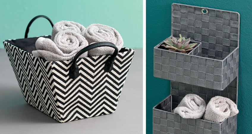 Bathroom and laundry room baskets from JYSK