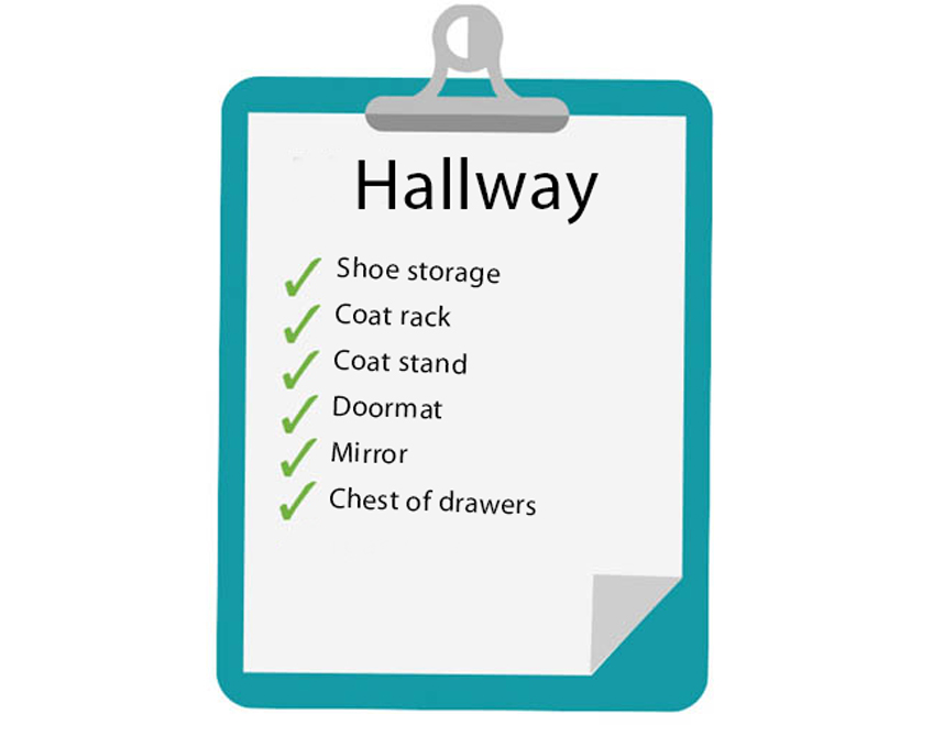 Hallway furniture items for your first home
