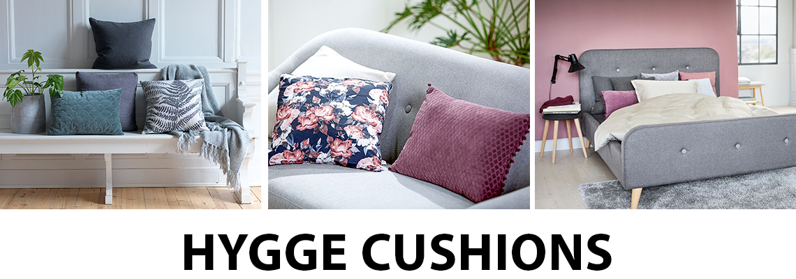 Bring hygge into your home with cushions from JYSK
