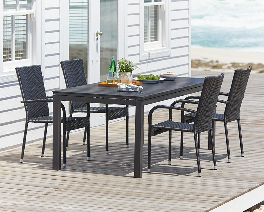 Patio dining set with patio table and chairs