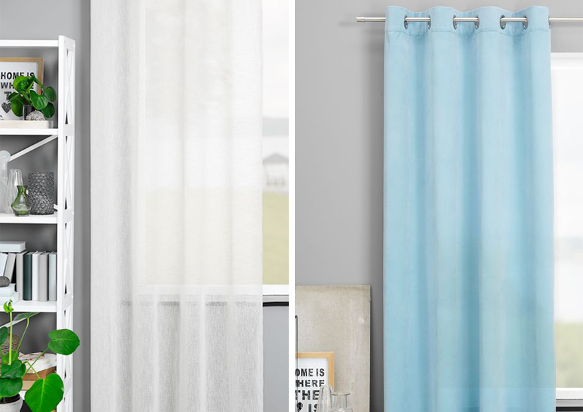 Decorate your home with long heavy curtains