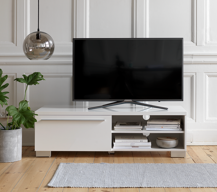 Tv stand d cor integrate your tv in the living room decoration jysk - Living room tv ideas ...