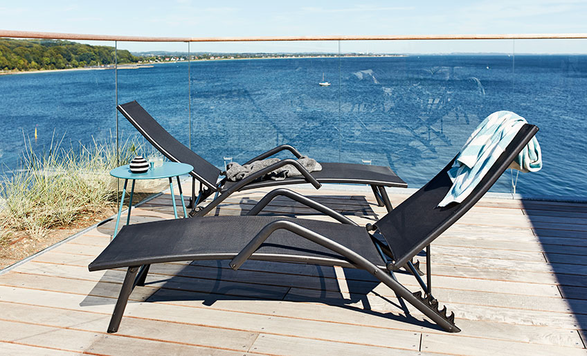 Sun lounger as patio and balcony furniture