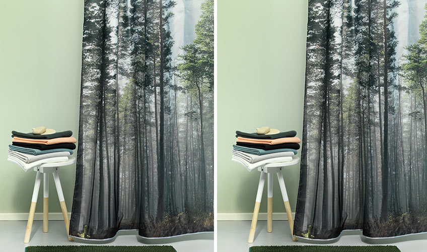 Printed shower curtains from JYSK