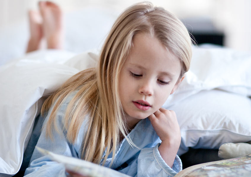 Reading before bedtime can help your child sleep