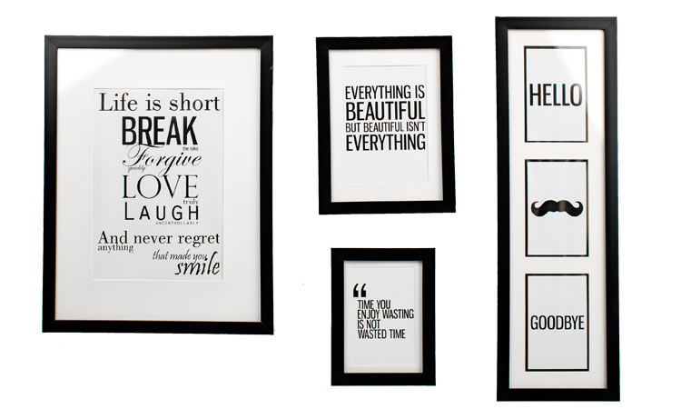 Picture wall with frames from JYSK